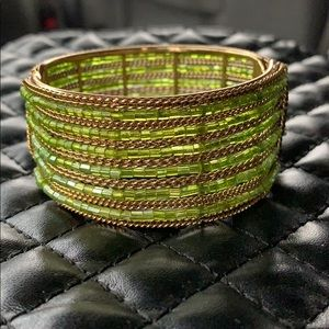 Free People Boho Seed Beaded Tribal Clamp Bracelet